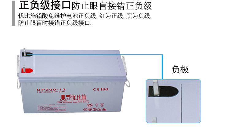 厂家直销12V200Ah铅酸免维护蓄电池 上海监控安防ups电源定制包邮示例图5