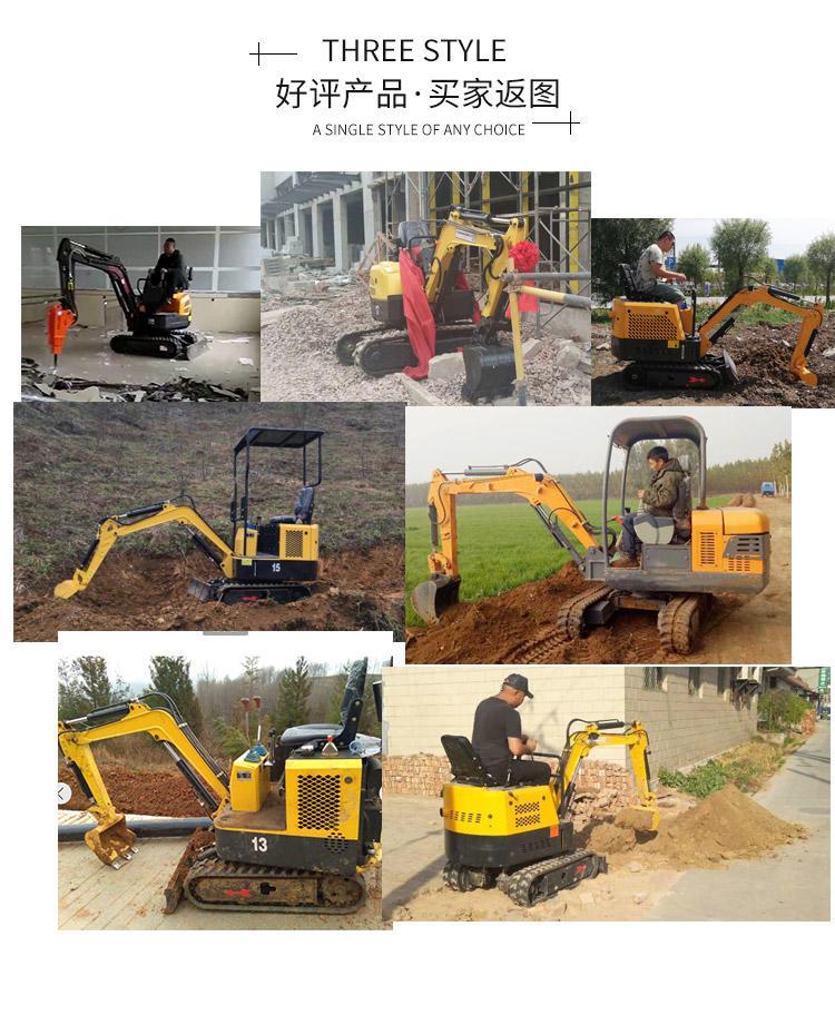 市政绿化用小勾机 小挖机型号价格 多种功能微型挖掘机 现货低价销售示例图15