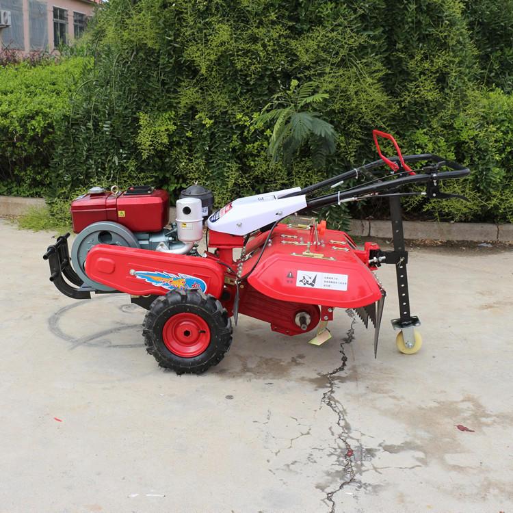新型后旋式四驱微耕机 大棚翻地松土机 ZC-188型手扶式柴油开沟机志成机械示例图7
