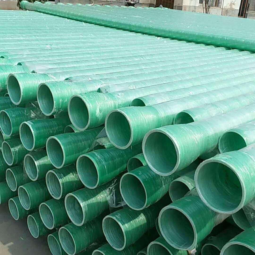 電力夾砂玻璃鋼管   玻璃鋼電纜保護管    廠家直銷   炳耀建材