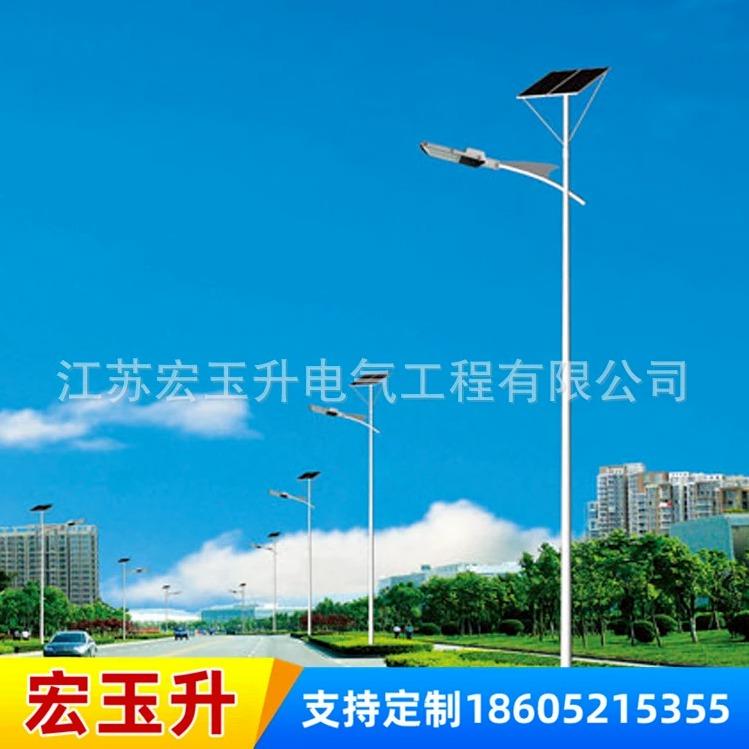 新农村建设LED太阳能路灯 6米户外一体化太阳能路灯杆厂家直销