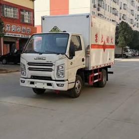 江铃顺达国六蓝牌4.2米爆破器材厢式运输车厂家直销