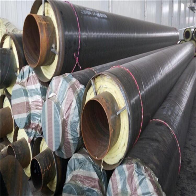 龙都直销耐高温蒸汽保温管道  热力直埋保温管 长线保温直缝钢管
