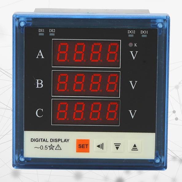 三相电压表 80-3V 交流220/380V可加报警  电工电压测量仪表 厂家直销