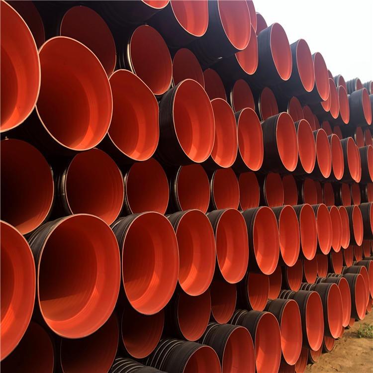欣汇泰 dn400双壁波纹管 排污工程聚乙烯波纹管 施工方便