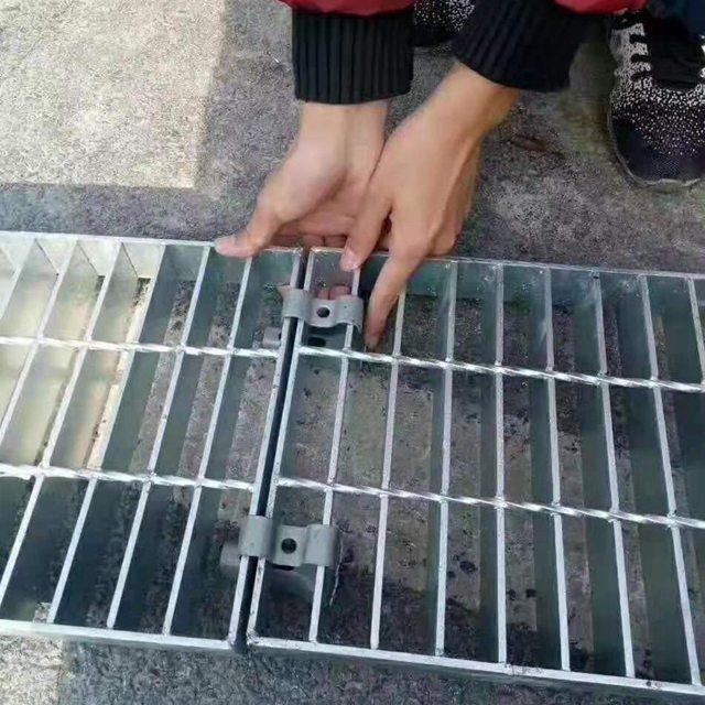 廠家直銷污水處理廠溝蓋板下水道地溝排水溝蓋板走道排溝鋼格柵板