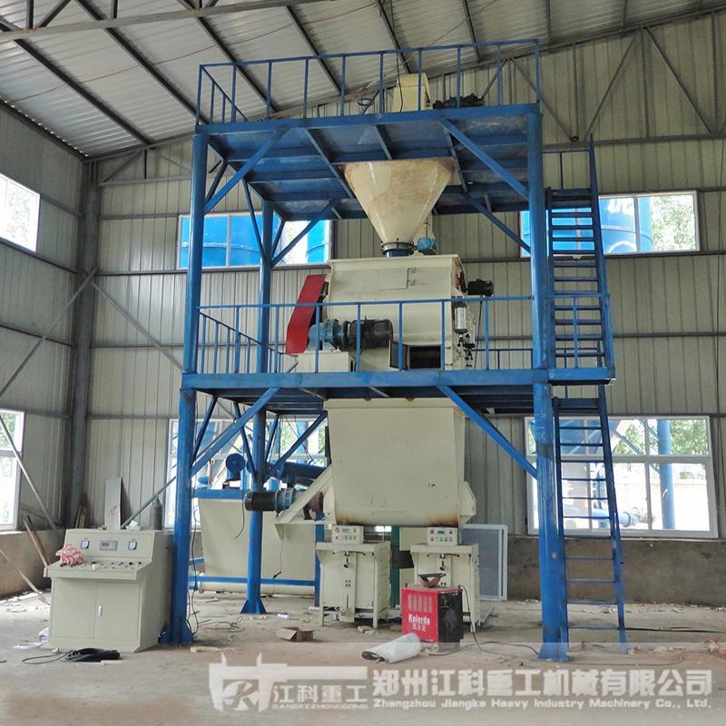郑州江科重 做腻子粉的机器报价表 外墙腻子粉设备 JK0012型地坪砂浆生产线 生产瓷砖胶的设备