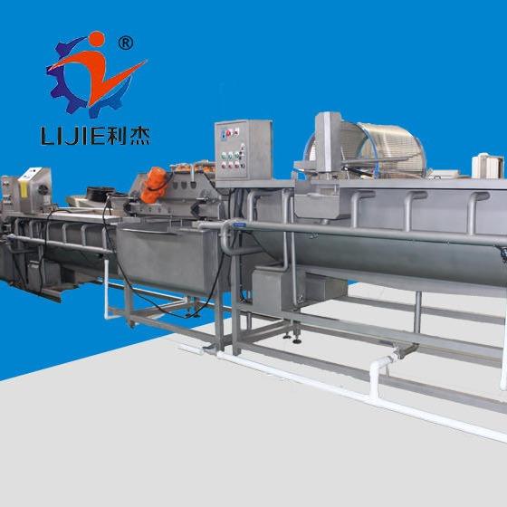 利杰LJ-500凈菜加工流水線  凈菜加工生產線   凈菜加工設備  中央廚房切配生產線 全自動化機器圖片