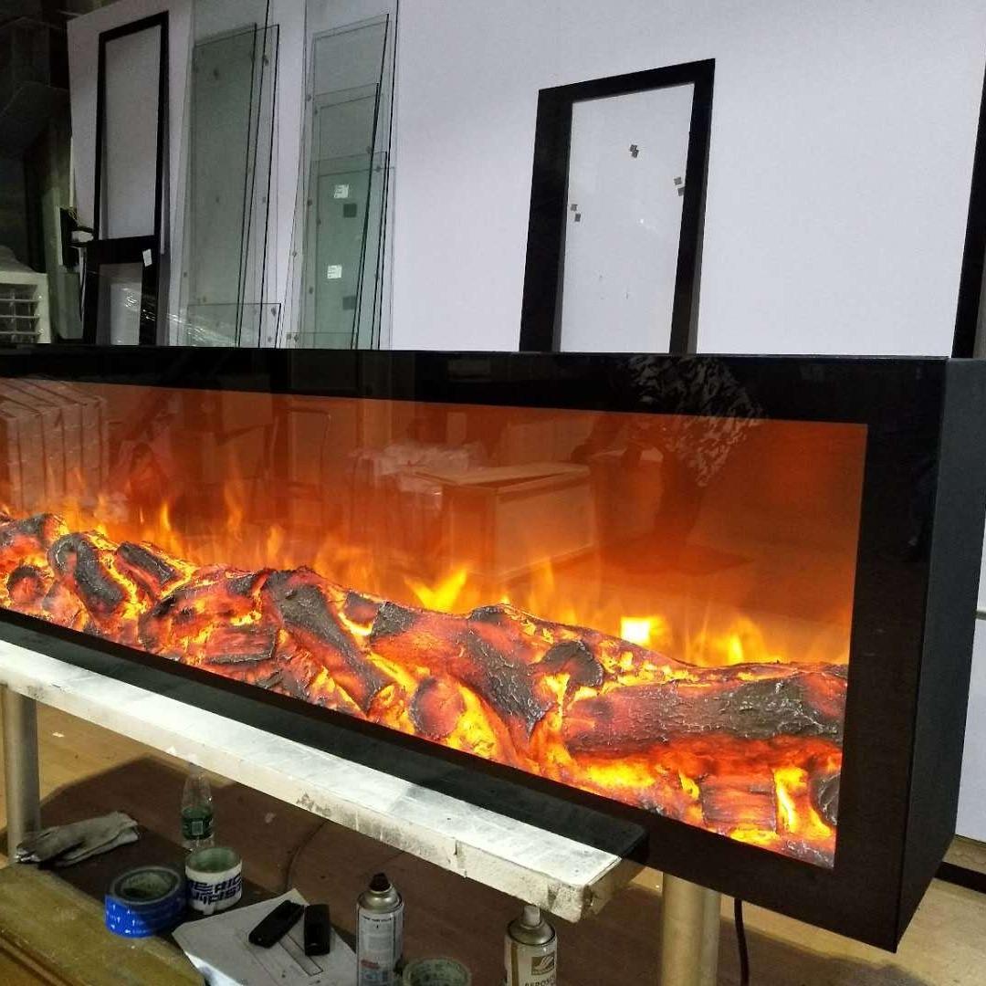 廠家定制伏爾甘品牌1.745米假火焰 歐式裝飾壁爐led仿真火焰嵌入式電子壁爐