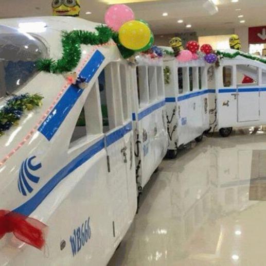 郑州大洋新款无轨和谐号观光小火车 商场电瓶和谐号观光火车项目
