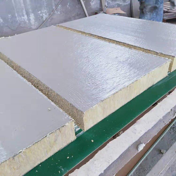 豎絲巖棉復合板 外墻屋頂用巖棉復合板 砂漿抹面復合板 銘浩巖棉保溫板