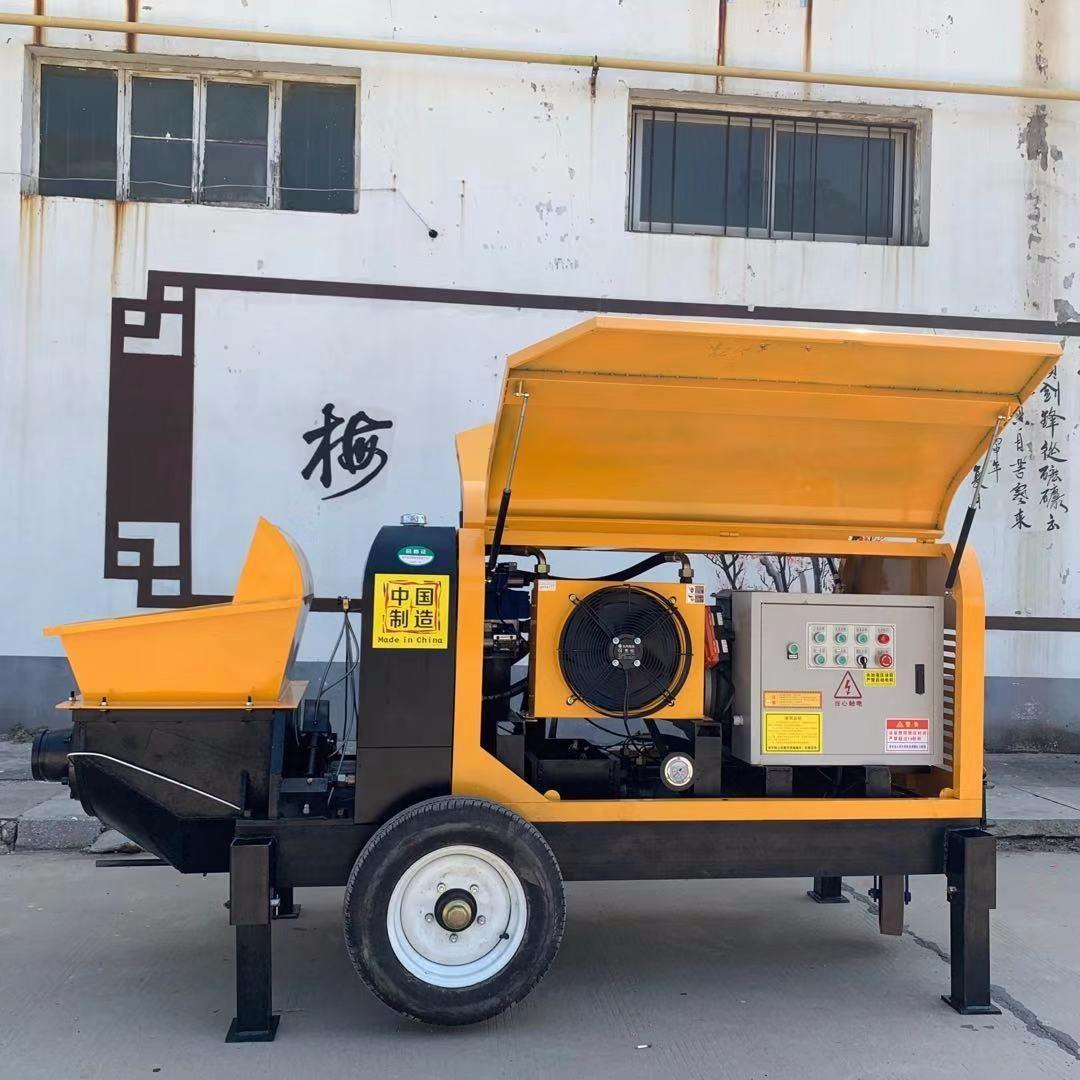 工地二次構造柱泵 邢臺二次構造柱輸送泵 二次結構地泵 混凝土輸送泵 細石