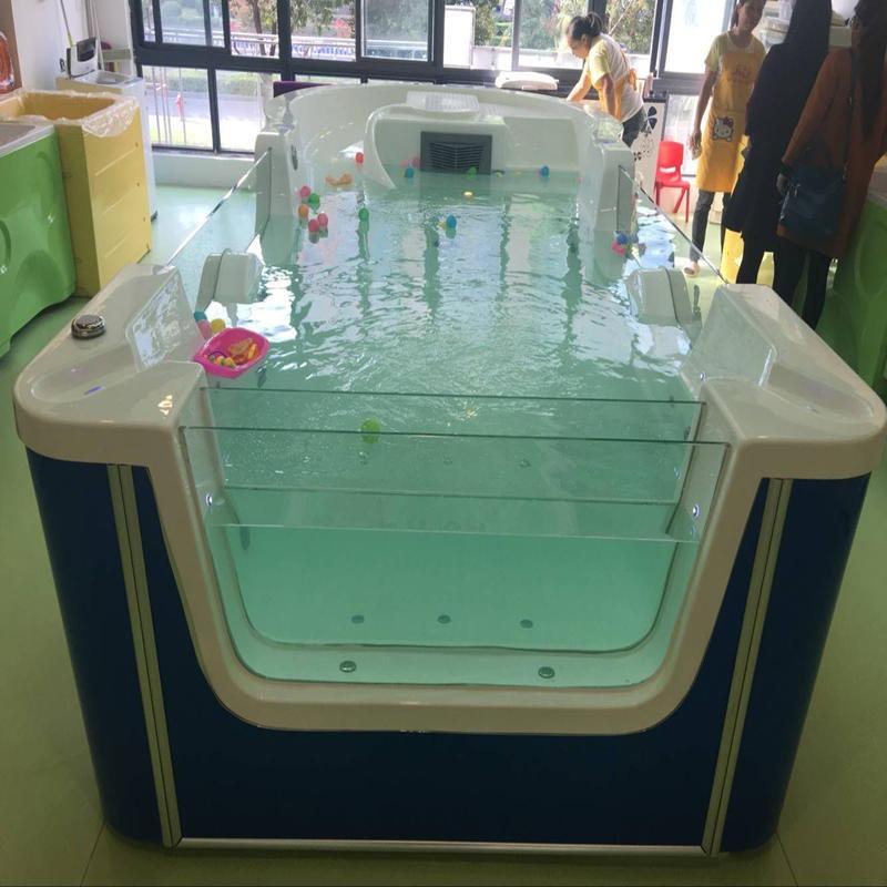 鋼化玻璃嬰兒游泳池 嬰兒游泳設備可定制 方形嬰兒游泳池