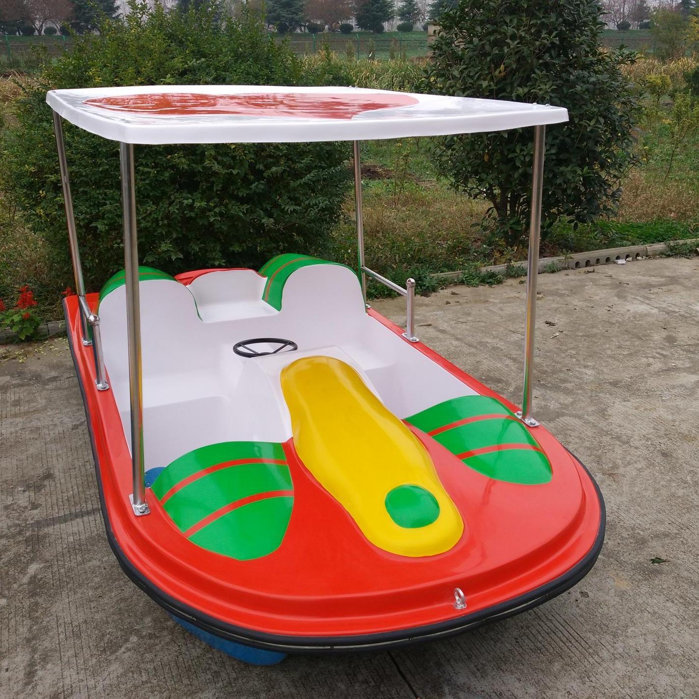 玻璃钢脚踏船 公园脚踏游船 2人脚踏船 4人玻璃钢脚踏船