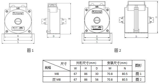 安科瑞,测量型电流互感器,AKH-0.66-30I,额定电流比100-600/示例图20