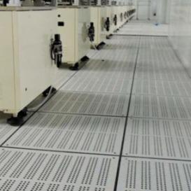 波米亚全钢防静电通风地板 烟台铝合金通风防静电地板 净化厂房机房常用加强型通风高架地板 冷通道通风地板---济南向利机房