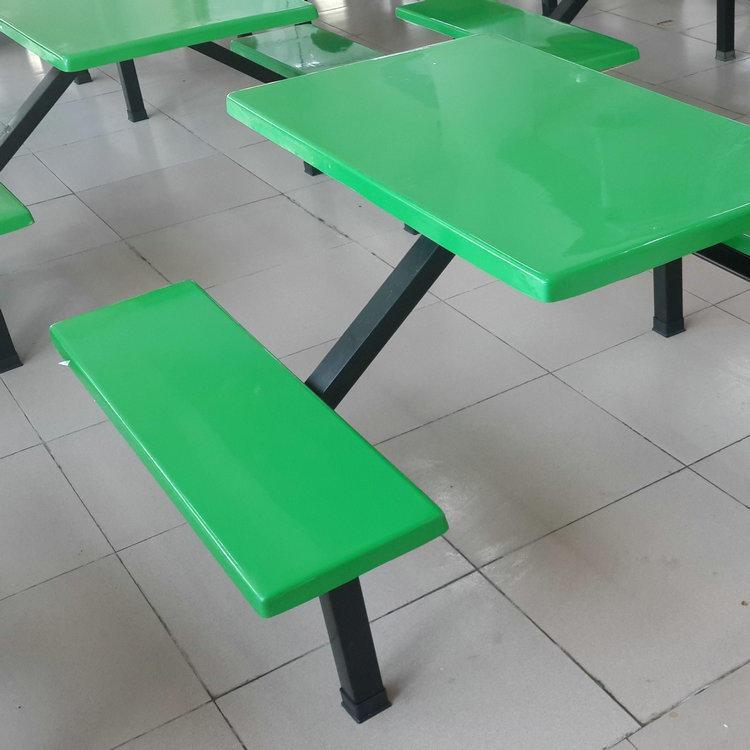 廠家直銷批發 學校BK-1104食堂餐桌椅4人 連體食堂餐桌椅 玻璃鋼餐桌椅4人 柏克體育現貨供應