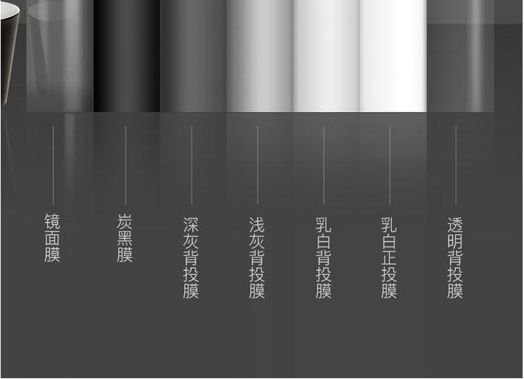 进口全息膜投影 深灰背投膜投影 投影仪配件 厂家直销 量大从优示例图6