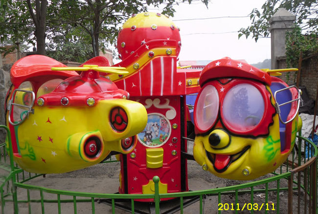 2020现货供应广场4座笑脸升降飞机 销售火爆大洋小型大眼飞机报价儿童游艺设施厂家游乐设备示例图4