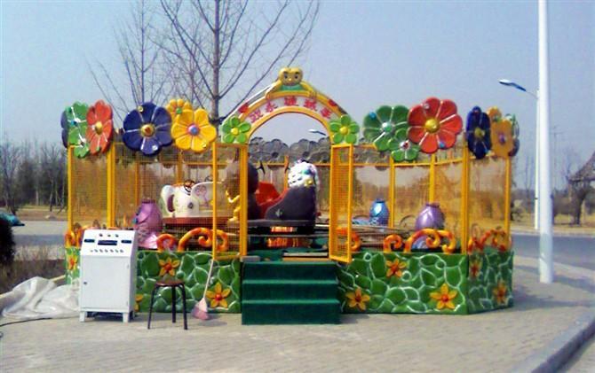欢乐喷球车户外儿童游乐设备 大洋游乐厂家直销轨道欢乐喷球车示例图2