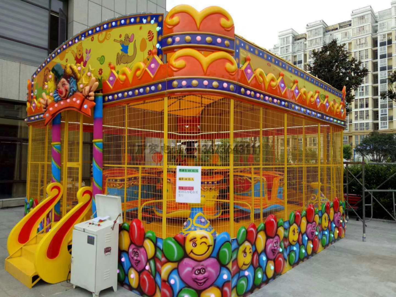 欢乐喷球车户外儿童游乐设备 大洋游乐厂家直销轨道欢乐喷球车示例图8