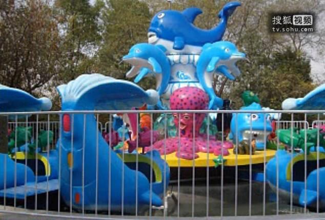 欢乐海洋儿童游乐设备 厂家直销全新玻璃钢装饰8臂欢乐海洋岛示例图6