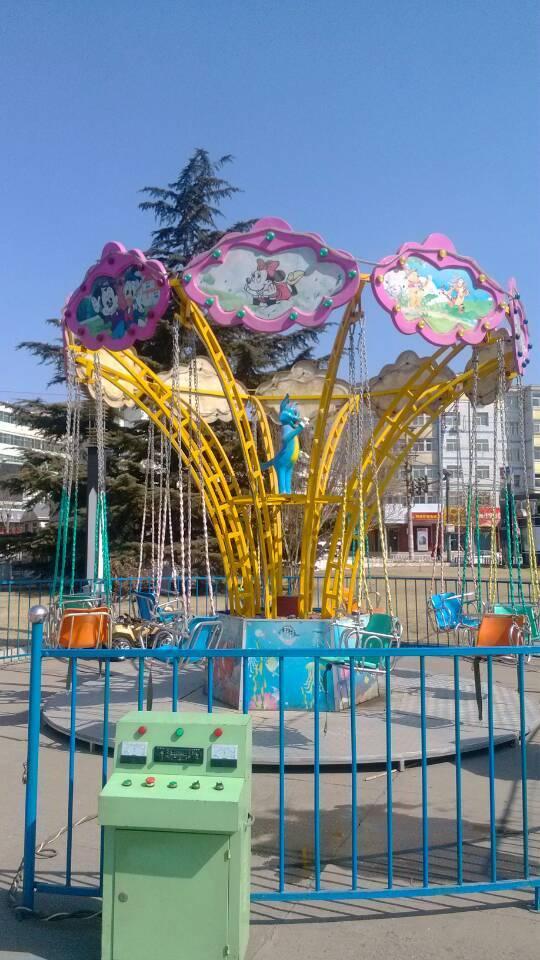 儿童12座迷你飞椅游乐设备 旋转飞椅大洋游乐厂家专业定制生产示例图6