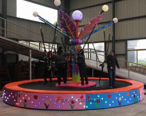 2020大洋现货供应广场可移动4人小蹦极 厂家定制小型儿童游乐设备蹦极蹦蹦床游艺设施示例图10