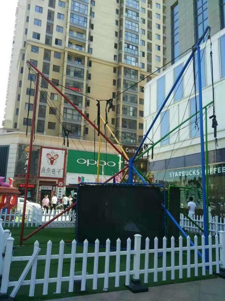 2020大洋现货供应广场可移动4人小蹦极 厂家定制小型儿童游乐设备蹦极蹦蹦床游艺设施示例图7