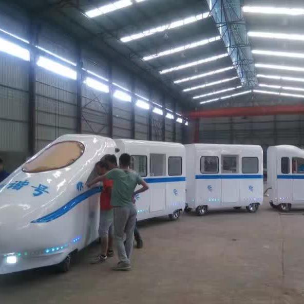2020福建龙岩客户的和谐号观光小火车正式运营了 专业定制无轨和谐号游艺设施厂家示例图5