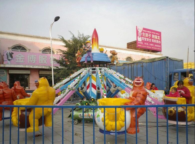 新型新款儿童游乐设施4臂旋转机械熊出没 2019大洋卡通机械熊出没示例图5