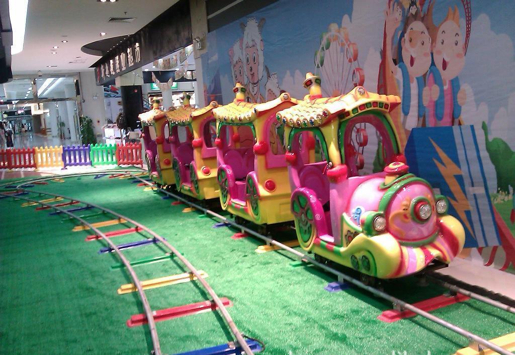 公园户外儿童游乐轨道小火车 迎十一现货供应轨道火车游乐项目示例图2