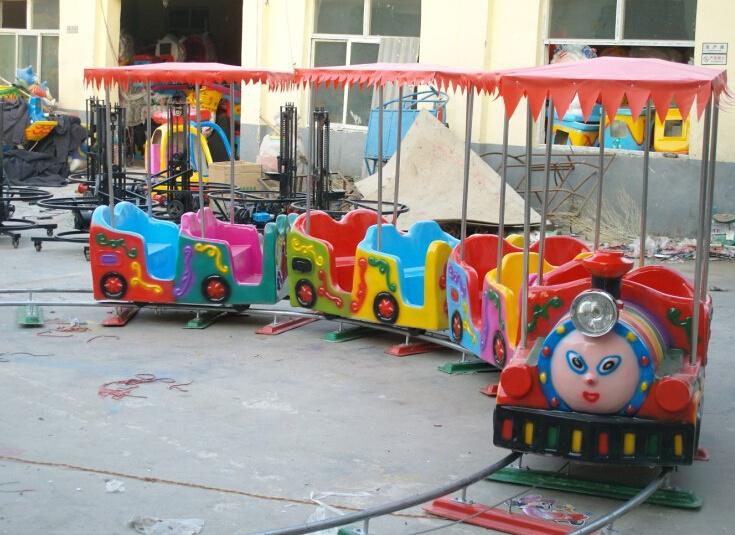 十一现货供应 轨道小火车 精品推荐卡通轨道火车儿童游乐设备示例图10