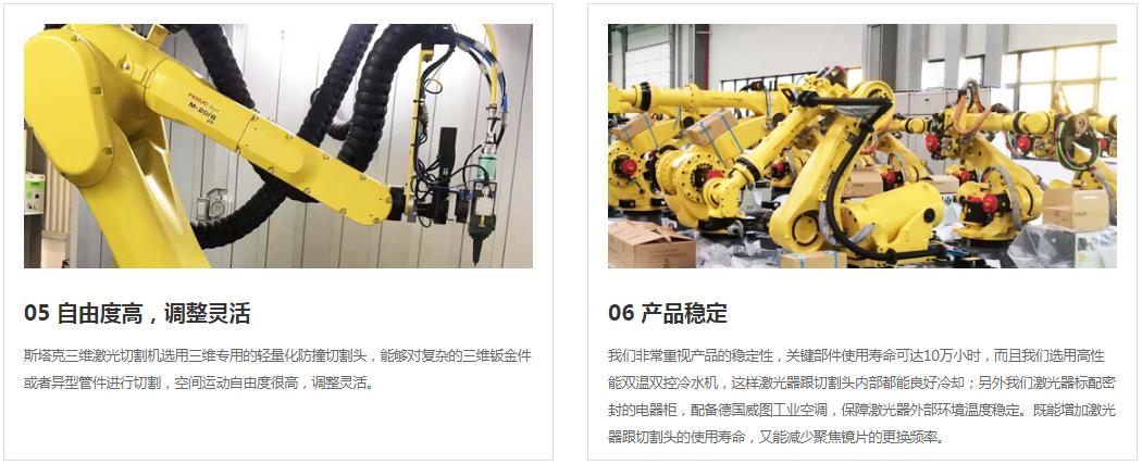 激光切割機 斯塔克激光品質保障 STK工業機器人三維激光切割機示例圖4