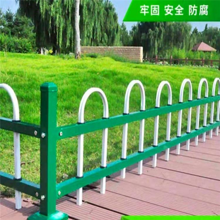 华朋销售 草坪护栏道路 pvc草坪围栏 小区道路草坪pvc护栏