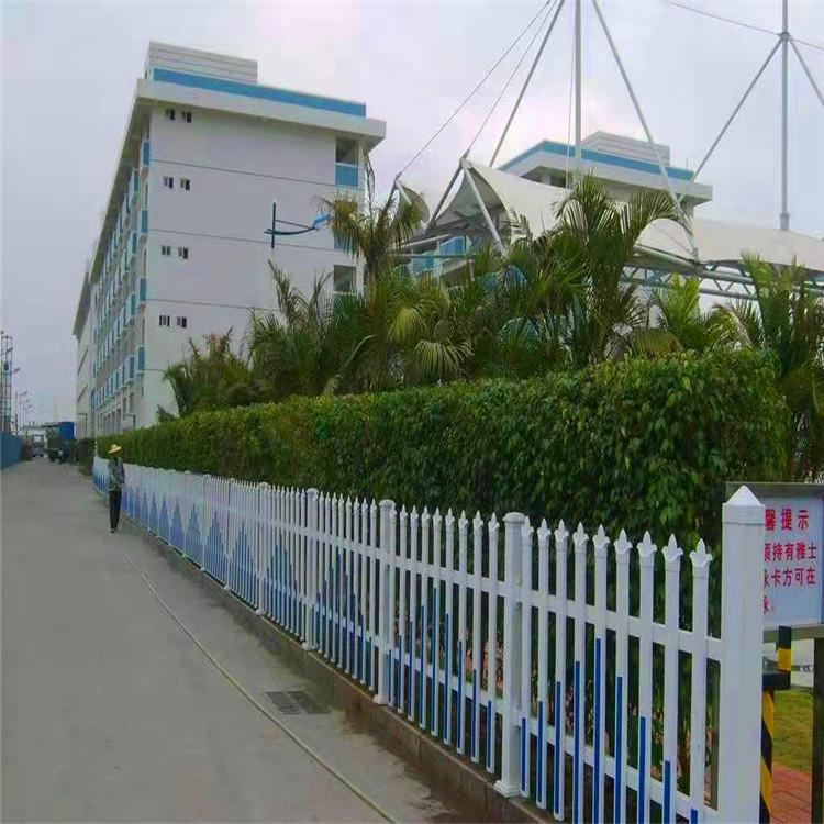 华朋销售 小区道路草坪pvc护栏 草坪护栏 草坪护栏