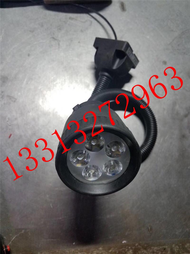 220VLED分散片照明灯 50D软管万向小方座工作灯 5珠工作灯 LED机床工作灯示例图1