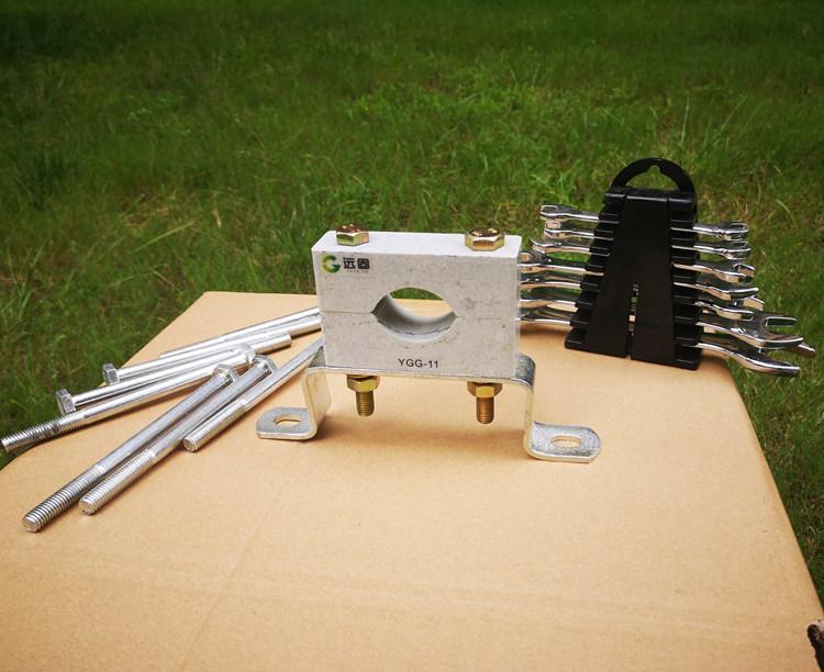 远能非磁性高压单孔电缆夹具 电缆固定卡生产示例图1