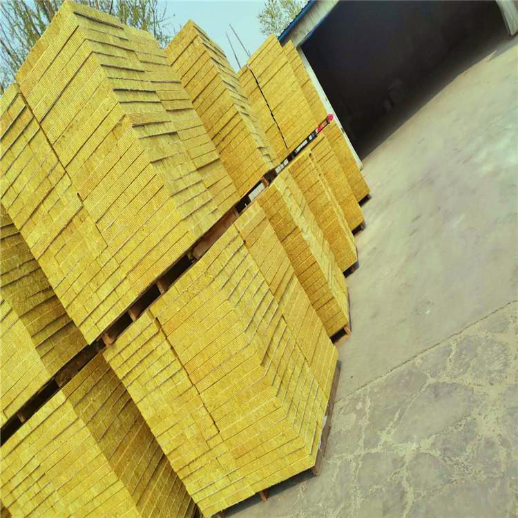 岩棉复合板 外墙防火隔离带岩棉板 外墙保温 实体厂家