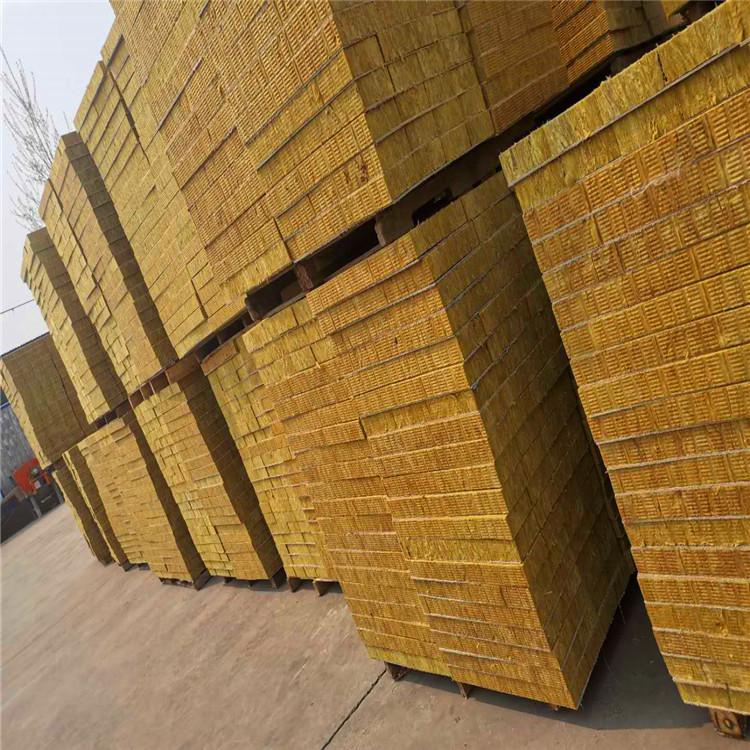 竖丝岩棉复合板 外墙防火隔离带岩棉板 保温隔热 规格可定做