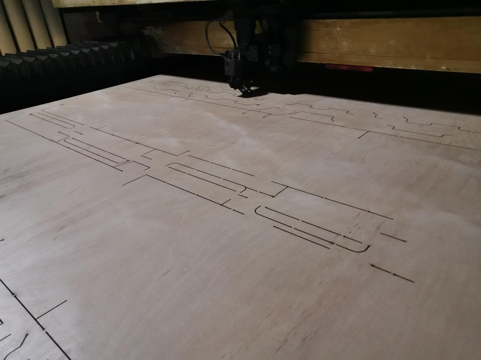 1325型易铭400w木板刀模切割机  可切割18mm厚600W激光切割设备示例图7