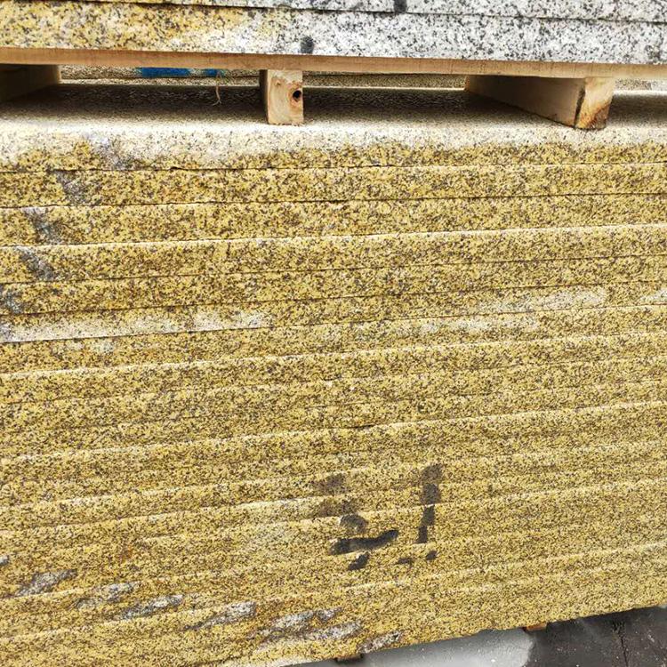 黄锈石烧面黄锈石路面批发价 价格优惠