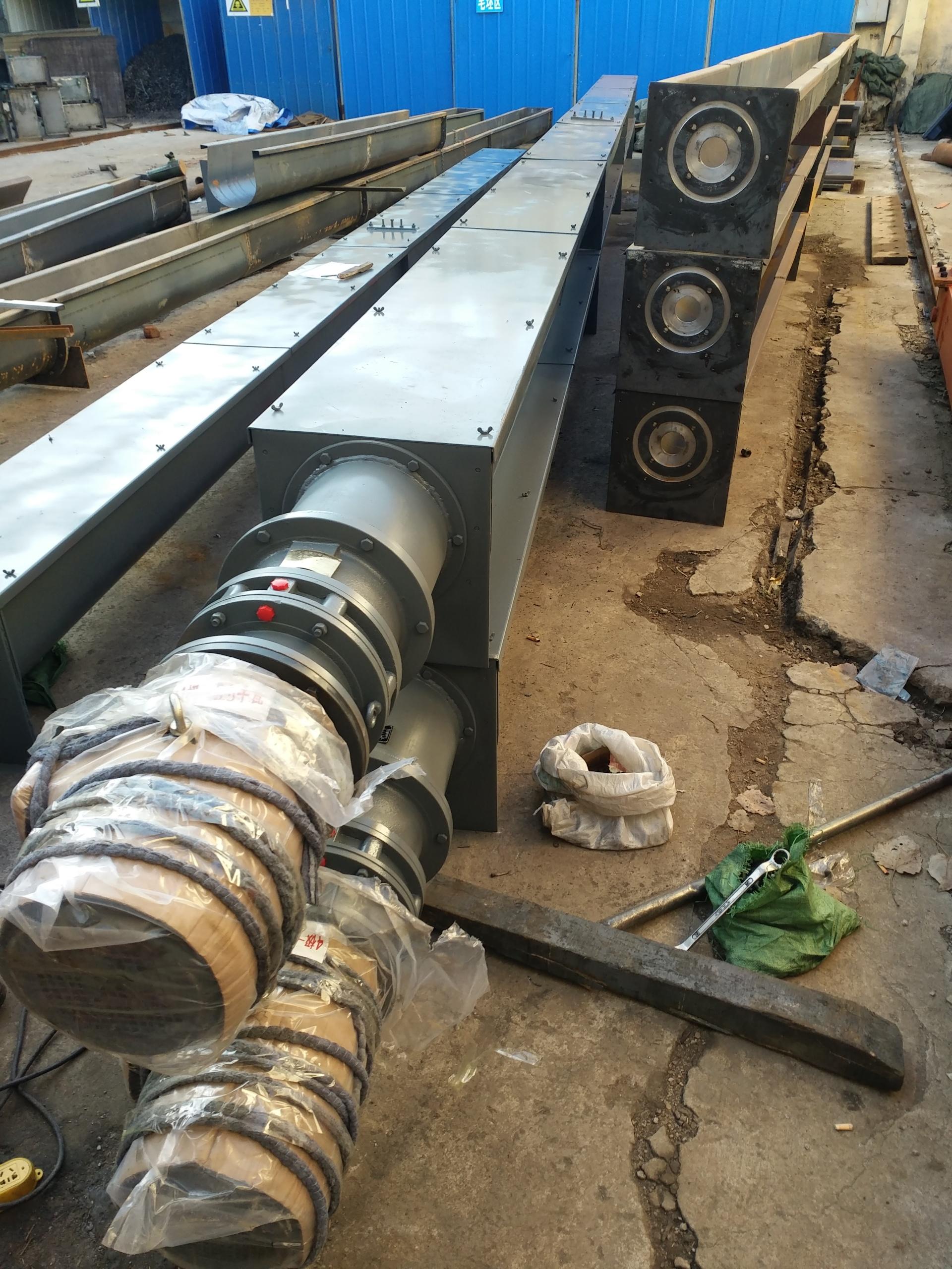 淄博螺旋输送机环保U型LS300螺旋机百耀厂家生产示例图8